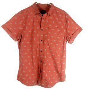 Prana Mens Broderick SS Slim Fit Shirt Medium Koi
